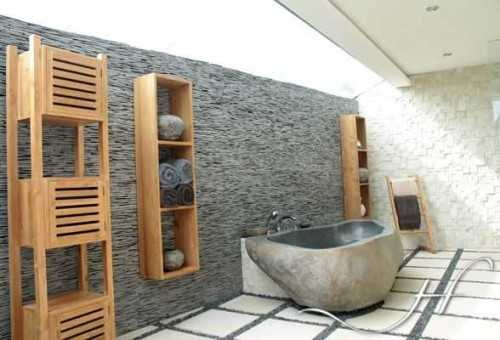Foto produk  Basalt River Stone Bathtub For Hotel Bathroom di Arsitag