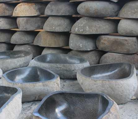 Foto produk  Bali Sink River Stone Basalt - Jual Wastafel Unik - Wa : +62 899 7531 900 (Aldi) di Arsitag
