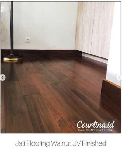 Foto produk  Jati Flooring Walnut Uv Finished - Citraland Cluster Newton Hills di Arsitag