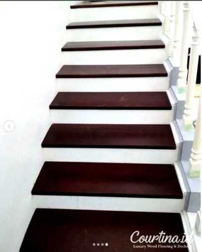 Foto produk  Merbau Kayu Solid Staircase - Project Mr. Rn di Arsitag