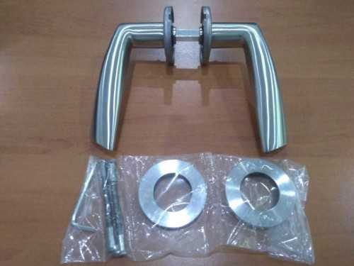 Foto produk  8503 Solid Lever Handle In 304 Sss, C/w 8Mm Spring Loaded Rose And Bolt Through Screws (Ys-9001-Di Sss Lever Handle) di Arsitag