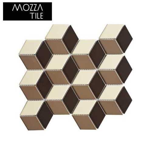 Cube Glossy Mocha FinishesFloor CoveringMosaics