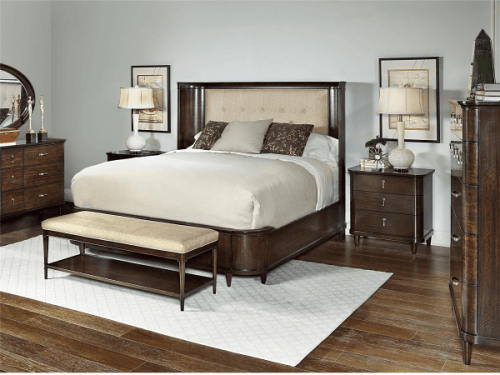 Foto produk   Cadence - Vivi King Upholstered Panel Bed With 2 Nightstand di Arsitag