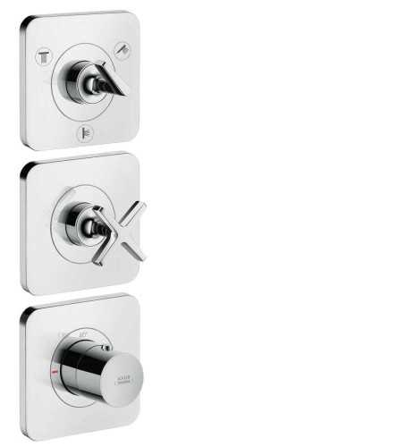 Foto produk  Axor Citterio E - Thermostatic Module 38 X 12, Concealed Installation, 3 Outlets With Escutcheons Projection 180 Mm di Arsitag
