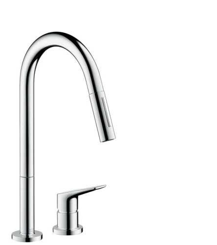 Foto produk  Axor Citterio M 2-Hole Single Lever Kitchen Mixer With Pull-Out Spray  di Arsitag