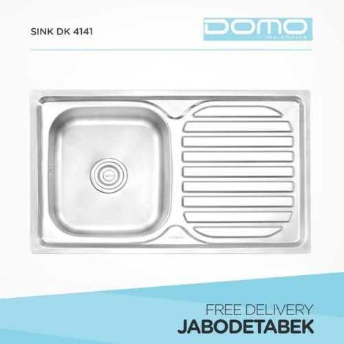 Foto produk  Bak Cuci Piring Domo 80Cm Dk 4141 (1 Bowl, 1 Drainer) di Arsitag