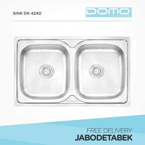 Foto produk  Bak Cuci Piring Domo 80Cm Dk 4240 (2 Bowls) di Arsitag