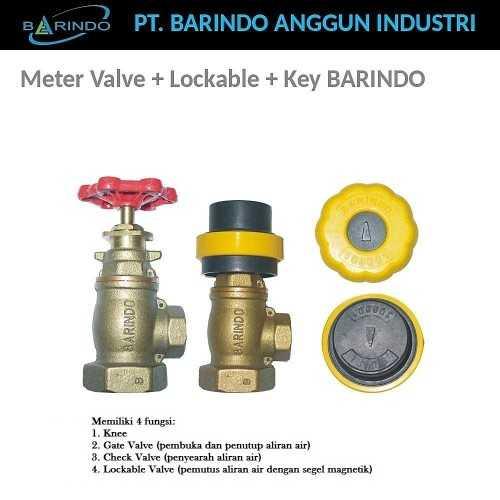 Foto produk  Meter Valve + Lockable + Key Barindo di Arsitag