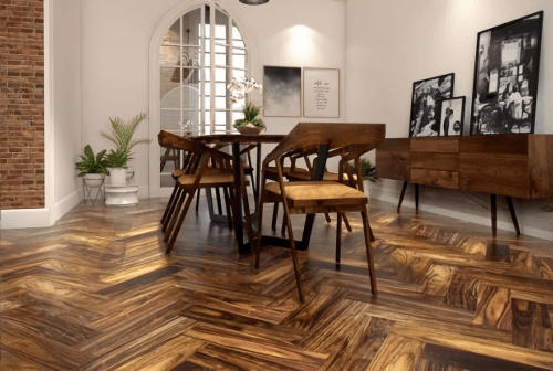 Foto produk  Engineered Floor-Albizia Herringbone di Arsitag