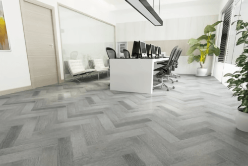 Foto produk  Engineered Floor-Gmelina Stained Grey Herringbone di Arsitag