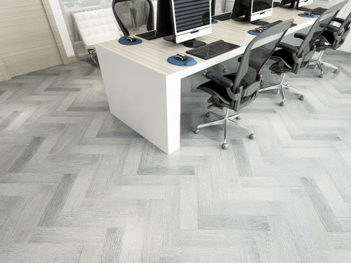 Foto produk  Engineered Floor-Gmelina Stained Grey Chevron di Arsitag