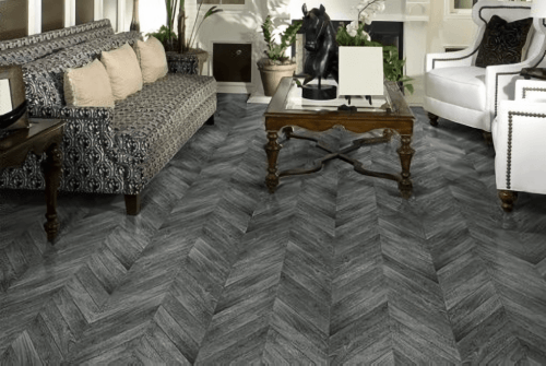 Foto produk  Engineered Floor-Gmelina Stained Black Chevron di Arsitag
