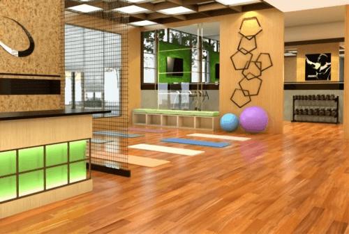 Engineered Floor-Mahogany Stained Teak Furniture