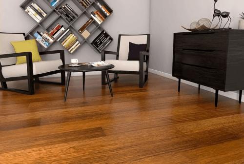 Engineered Floor-Merbau 1 Strip Furniture