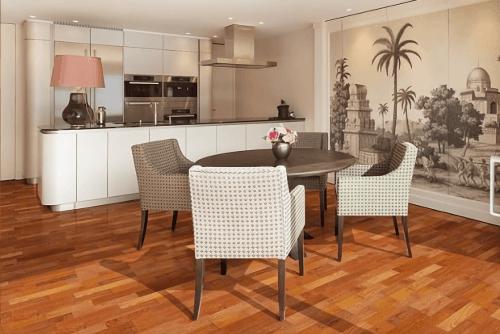 Engineered Floor-Merbau 2 Strips Furniture