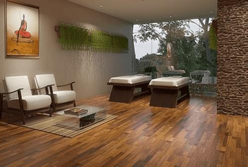 Engineered Floor-Merbau 3 Strips Furniture