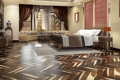 Engineered Floor-Sonokeling Sapwood Herringbone Furniture
