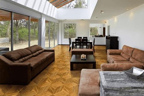 Engineered Floor-Teak Wood Cube Furniture