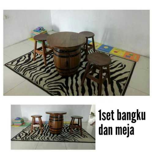 1 Set Bangku Dan Meja FurnitureSofa And ArmchairsLounge Chairs