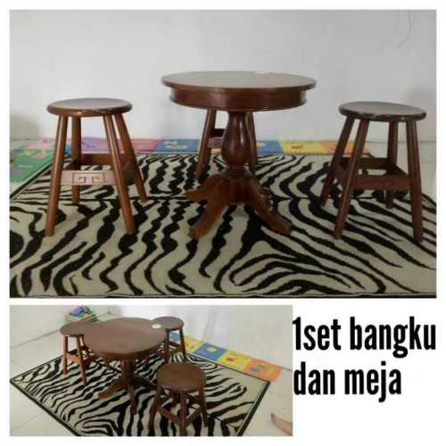 1 Set Bangku & Meja FurnitureSofa And ArmchairsLounge Chairs
